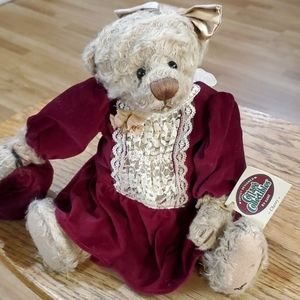 Ganz Cottage Collection Cherry plush bear